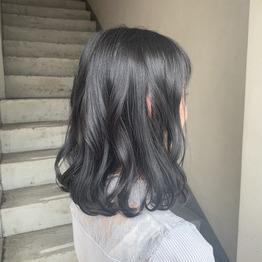 暗髪ヘアカラー